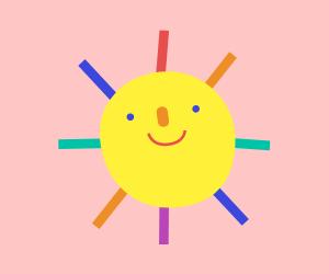 天赦日の太陽のイラスト