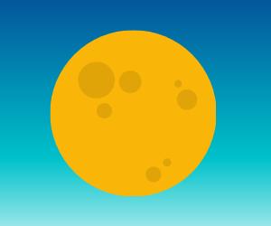 月のイラスト